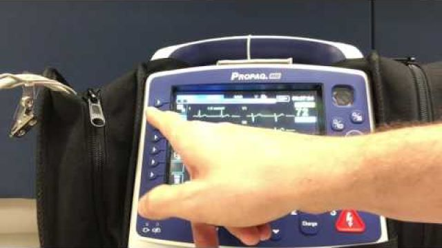Obtaining EKG with Propaq MD